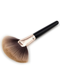 Fashion Black+brown Color-matching Decorated Brush