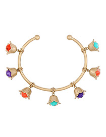 Trendy Gold Color Bells Pendant Decorated Simple Bracelet