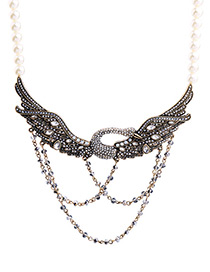 Trendy Gray Swan Shape Decorated Simple Necklace