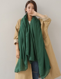 Fashion Dark Green Pure Color Decorated Dual-use Scarf