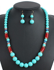 Fashion Green Color-matching Decirated Jewelry Sets