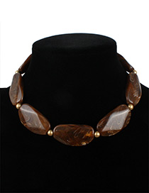 Fashion Coffee Irregular Shape Decorated Jewelry Sets