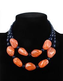 Fashion Orange Stone Shape Decorated Jewelry Sets