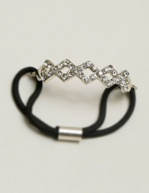 Fashion Silver Color Geometric Shape Decorated Hair Band