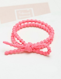Fashion Pink Bowknot Decorated Pure Color Hair Band
