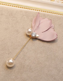 Fashion Pink Flower&pearl Decorated Brooch