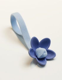 Fashion Blue Flower Shape Decorated Hair Band