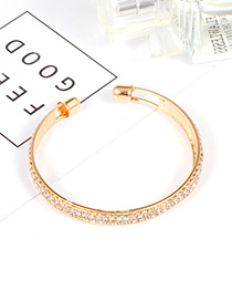 Trendy Gold Color Pure Color Decorated Opening Bracelet