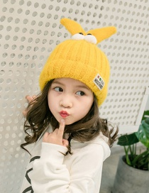 Lovely Yellow Cartoon Eyes Design Child Knitted Cap(1-6 Years Old )