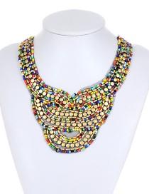 Bohemia Multi-color Round Shape Decorated Necklace