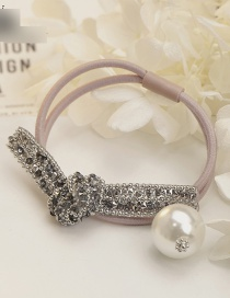 Fashion Pink Bowknot&pearl Decorated Hair Band