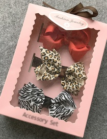 Fashion Red+yellow Bowknot Decorated Hair Band(3pcs)