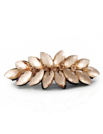 Fashion Champagne Flower Shape Design Color Matching Hairpin (small)