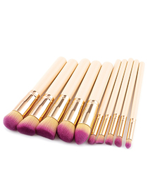 Fashion Beige Pure Color Decorated Brushes (10pcs)