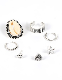 Fashion Silver Color Shell Shape Decorated Ear Clip