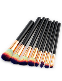 Fashion Blue Color-matching Decorated Brush (8pcs)