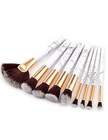Fashion Gray Color-matching Decorated Brushes (9pcs)