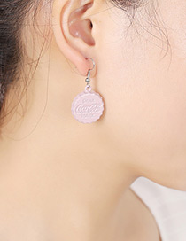 Fashion Pink Cap Shape Decorated Earrings