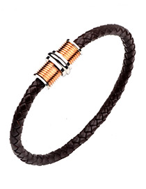 Personality Bronze Hand-woven Decorated Bracelet