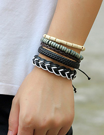Personality Multi-color Color-matching Decorated Multilayer Braceles