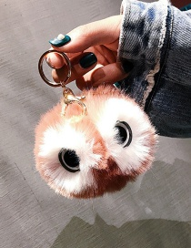 Cute Pink Eyes Decorated Key Chain