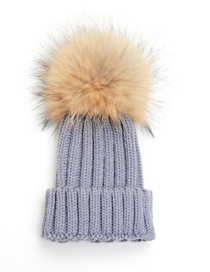 Lovely Light Gray Fuzzy Ball Decorated Adult hat