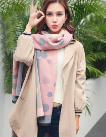 Fashion Pink Round Pattern Decorated Scarf