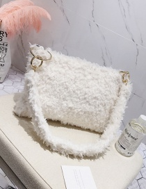 Elegant White Pure Color Decorated Bag
