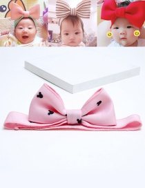 Lovely Pink Bowknot Shape Decorated Baby Hair Band
