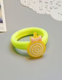 Cute Yellow Lollipop Shape Decorated Baby Hair Band