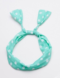 Fashion Green Dot Shape Decorated Hair Band