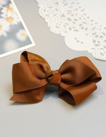 Lovely Brown Bowknot Shape Decorated Hairpin