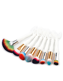 Fashion Multi-color Color-matching Decorated Brushes (4pcs)