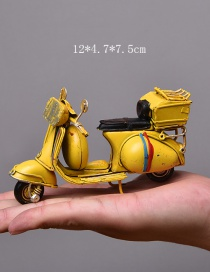 Personality Yellow Motorcycle Shape Decorated Ornaments