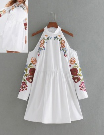 Lovely White Off-the-shoulder Decorated Dress