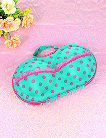 Fashion Green Dot Shape Decorated Buggy Bag