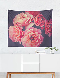 Fashion Red Flower Pattern Decorated Blanket