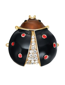 Personality Black Beetle Shape Decorated Brooch