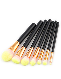 Fashion Yellow Color-macthing Decorated Brushes