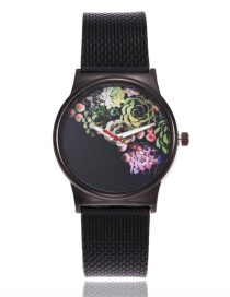 Fashion Multi-color Flower Shape Decorated Watch