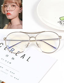 Fashion Silver Color Pure Color Decorated Glasses