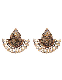 Fashion Glod Color Pure Color Decorated Earrings
