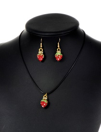 Fashion Red Strawberry Shape Decorated Jewelry Set