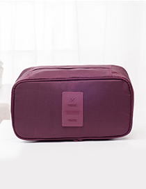 Fashion Claret Red Pure Color Decorated Storage Bag