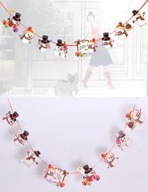 Fashion Red+white Snowman Pattern Decorated Christmas Ornaments