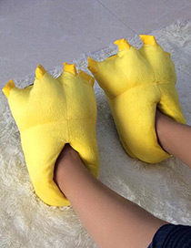 Fashion Yellow Pure Color Decorated Shoes
