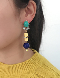 Fashion Multi-color Bead Decorated Earrings