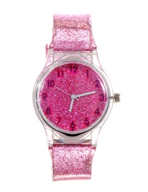 Fashion Plum Red Sequins Decorated Watch
