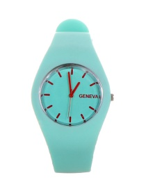 Fashion Light Green Pure Color Decorated Watch