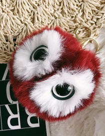 Fashion Red Eyes&fuzzy Ball Decorated Ornaments